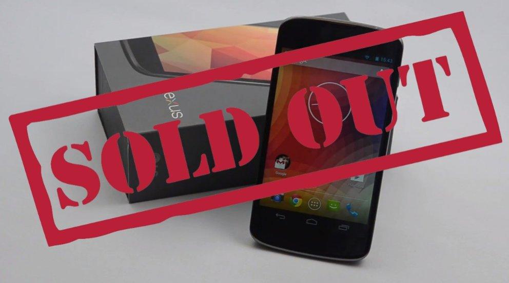 Nexus&nbsp&#x3B;4: Im deutschen Play Store ausverkauft – Nexus&nbsp&#x3B;5 kann kommen