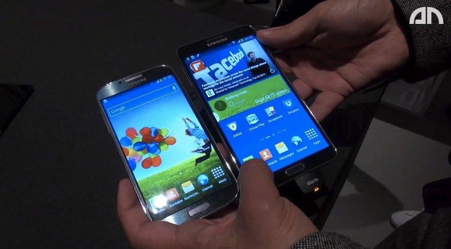 Samsung Galaxy Note 3 vs. Galaxy S4: Flaggschiffe von 2013 im Videovergleich [IFA 2013]