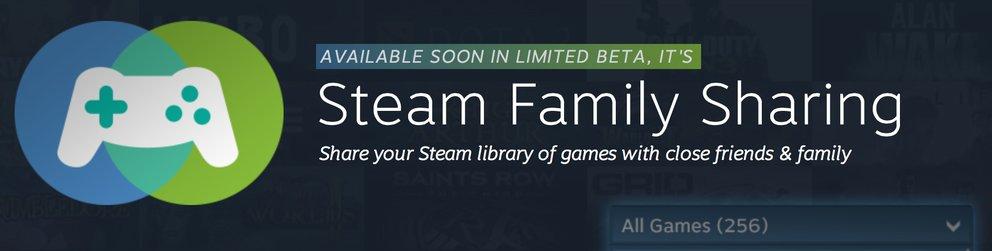 Steam: Family Sharing erlaubt das Teilen von Spielen