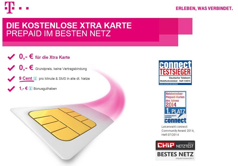 Telekom Xtra Card: Kostenlose Zweit-SIM für's beste Netz [Deal] [Update]
