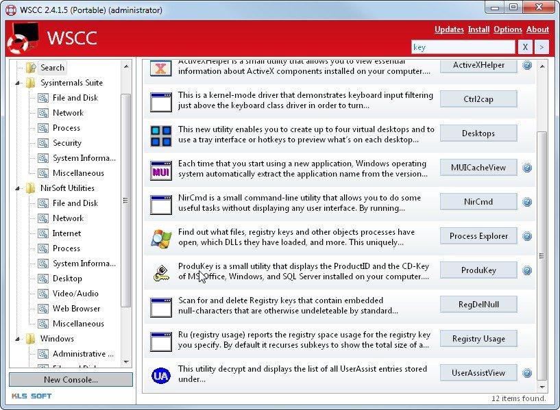 WSCC mit Suche in Echtzeit