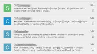 Gmail - so sieht die Werbung in der App aus!