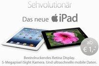 Apple iPad Air und iPad mini 2 mit 3 GB LTE-Flat ab 1,00 Euro bei Sparhandy