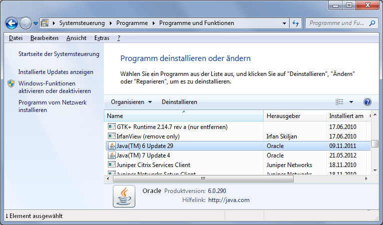 java environment download windows 7