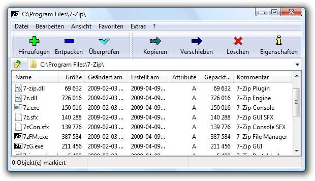 Das kostenlose 7-Zip kann DMG-Dateien öffnen.