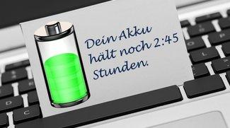 OS X 10.9 Mavericks: Zeitangabe der Akku-Anzeige wiederherstellen (Tipp)