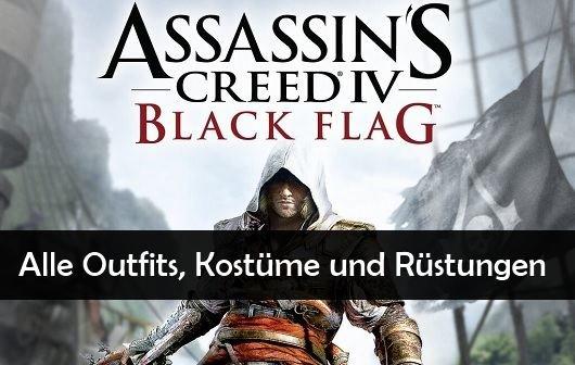 Assassin's Creed 4 – Black Flag Tipps: Freischalten aller Kostüme und Outfits