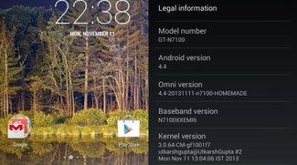 Galaxy Note 2 Android 4.4 KitKat-Update über OmniROM erhältlich