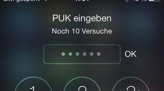 iPhone-SIM entsperren: Infos zu PIN und PUK