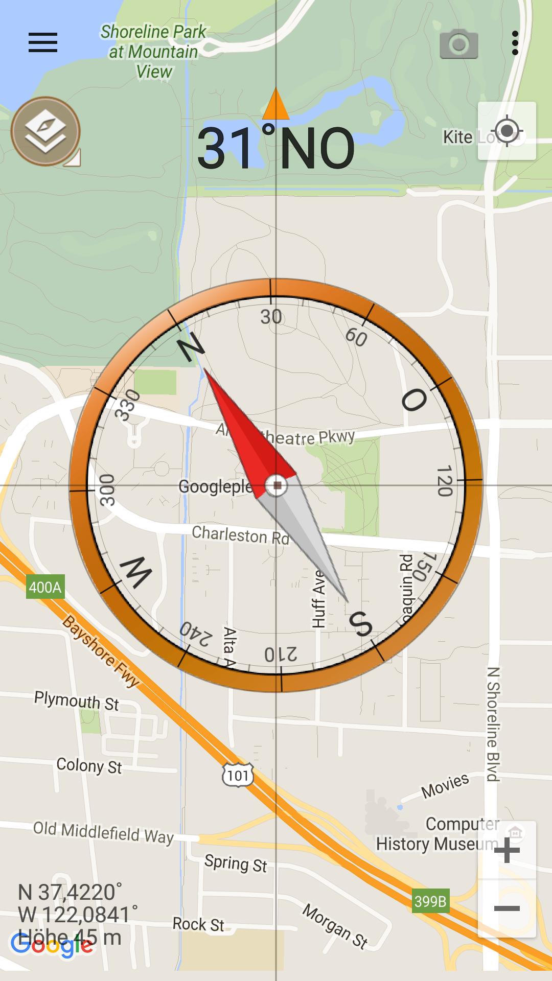 Google Maps Himmelsrichtung