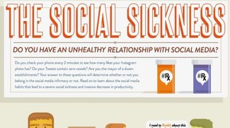The Social Sickness: Das ungesunde Verhältnis zu Social Media (Infografik)