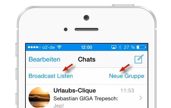 WhatsApp: Broadcast-Liste und Gruppe – der Unterschied