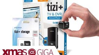 Gewinne tizi TV-Recorder, Akku und Lautsprecher für Tablets und Smartphones