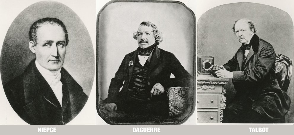 Talbot,Niepce,Daguerre