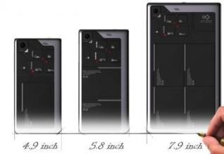 In drei verschiedenen Größen möchte ZTE seine modularen Geräte anbieten.