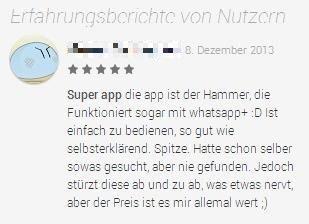 WhatsMore Erfahrungsbericht