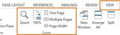 Der Zoom ist in Word 2013 besonders bedienerfreundlich