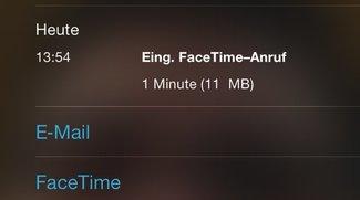 iOS 7: Datenverbrauch eines FaceTime-Anrufes herausfinden (Mini-Tipp)