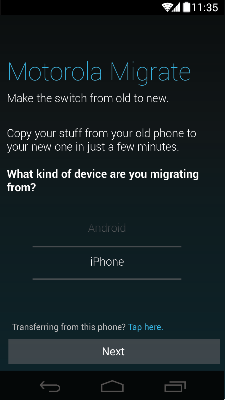 Motorola Migrieren Datentransfer App Hilft Jetzt Auch IPhone