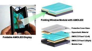 Faltbares Display: Samsung führt Prototypen auf der CES ausgewählten Personen vor