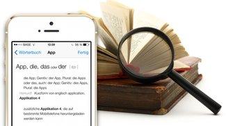 iOS 7: Verstecktes Wörterbuch von iPhone & iPad erweitern (Tipp)