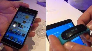 Huawei Ascend G6 / P7 mini &amp&#x3B; TalkBand B1: Mittelklasse-Smartphone und Fitness-Tracker im Hands-On-Video [MWC 2014]