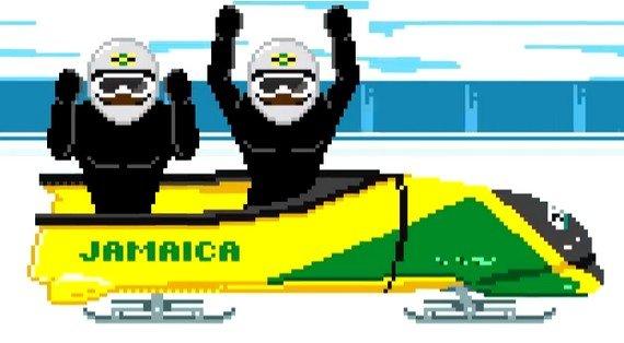 Cool Runnings revisited: Der Jamaika-Bob von Olympia 2014 im 8Bit-Winter-Games-Video
