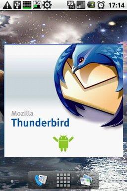 Der Splashscreen der Fake Thunderbird-App // Quelle: Daystrom