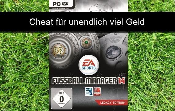 Fussball Manager 14: Cheat für unendlich viel Geld