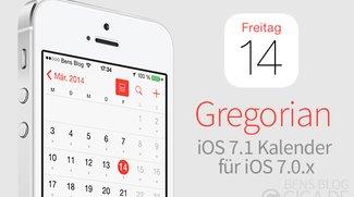 Gregorian: iOS 7.1 Kalender für iOS 7.0.x - kostenlos [Cydia]