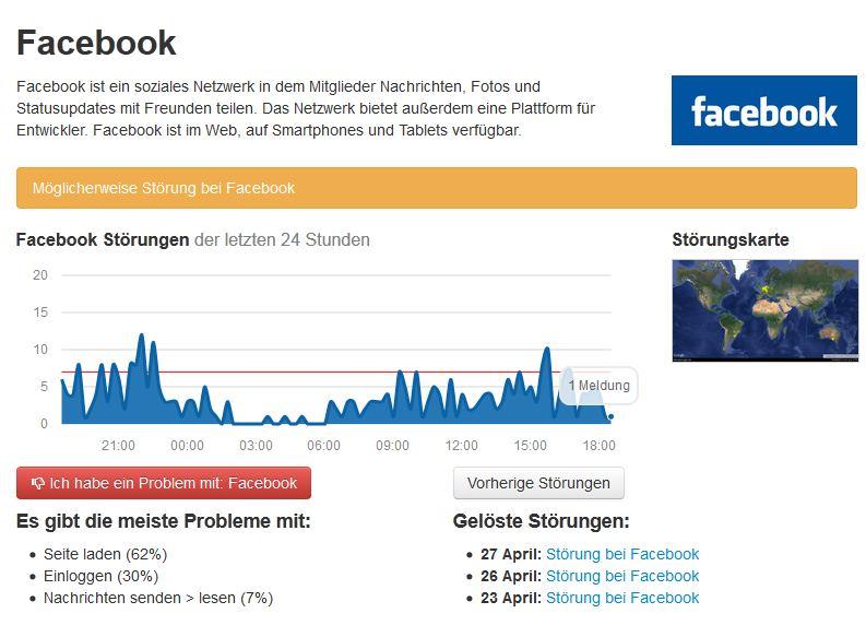 Störungen bei Facebook, WhatsApp und Instagram behoben