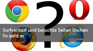 Browser: Surf-Verlauf und besuchte Seiten löschen – Bild für Bild