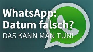 WhatsApp: Telefondatum nicht korrekt? So stellt ihr die Uhrzeit ein