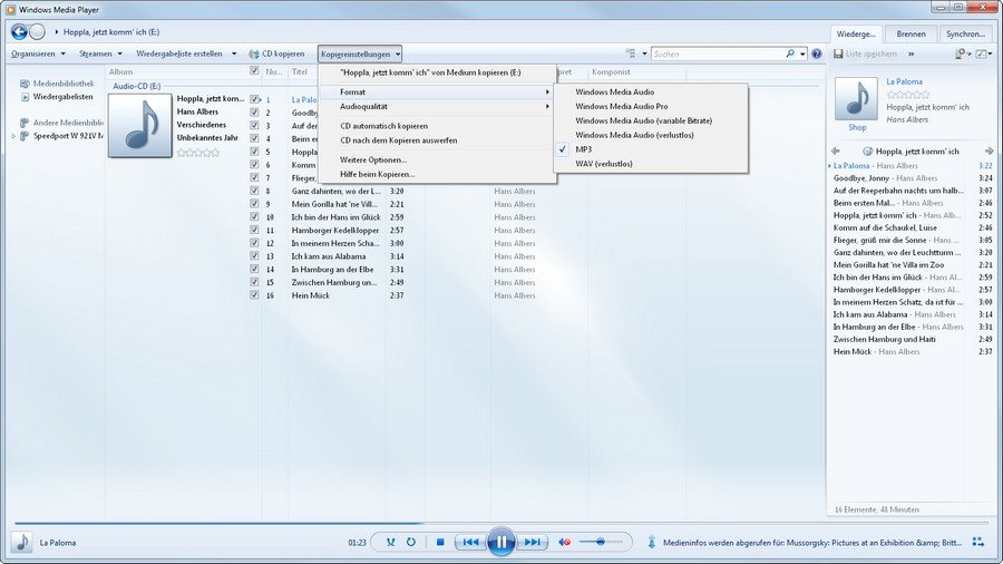 cd kopieren windows media player