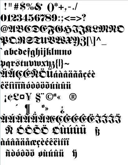 Die klassische Altdeutsche Schrift: Die Fette Fraktur