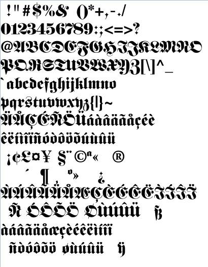 Alte Schrift Word
