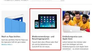 Apple Store: Deutsche Stores nehmen jetzt auch alte iPads in Zahlung