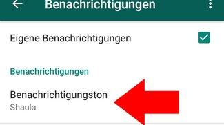 WhatsApp: Benachrichtigungston ändern oder ausschalten (Android & iOS)