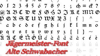 Font: Alte Schwabacher