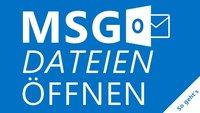 MSG-Dateien öffnen: So geht's