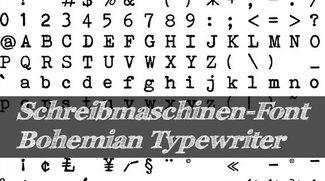 Font: Bohemian Typewriter