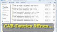 Was ist eine CAB-Datei und wie öffne ich sie?