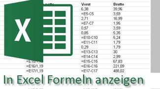 So kann Excel Formeln anzeigen