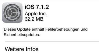 Apple veröffentlicht iOS 7.1.2