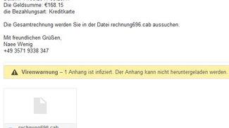 """Neue Phishing-Welle: Vorsicht bei Mails mit """"Rechnung"""" und """"Bestellen""""!"""
