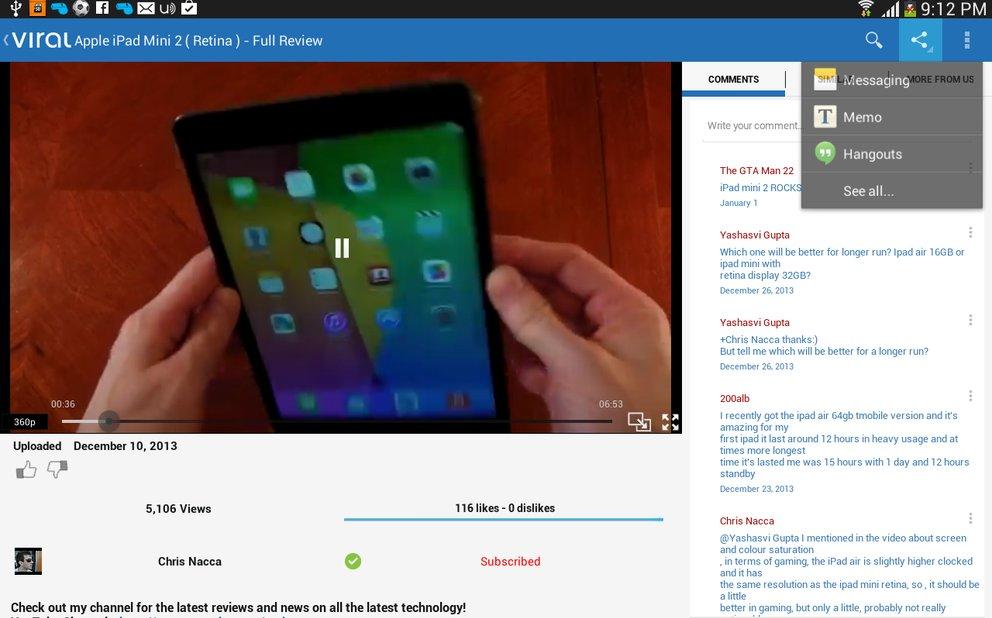 Das Icon unten rechts im Videoplayer macht aus dem Video ein Popup.