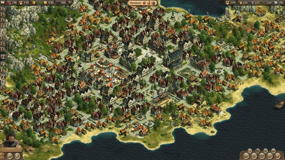 Anno Online: Voller Stolz könnt ihr nach fleißigem Aufbau auf eure Stadt blicken.