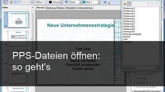 PPS-Datei öffnen – so geht's auch ohne PowerPoint