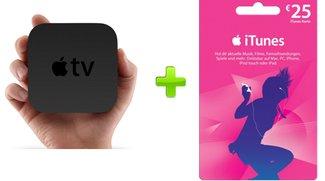 Zum Apple TV legt Apple einen 25 Euro iTunes-Gutschein dazu