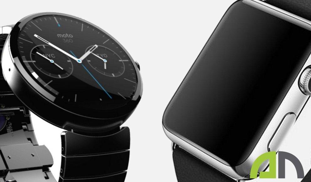 Android Wear vs. Apple Watch: Screenshot-Vergleich der Smartwatch-Systeme